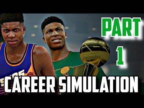SIMULATING GIANNIS ANTETOKOUNMPO'S NBA CAREER IN NBA2K17!!(2013-2033) PART 1!!!