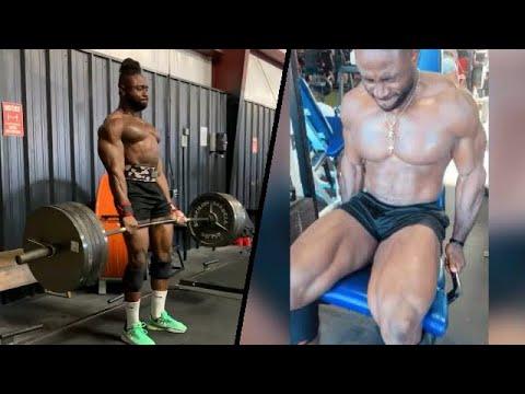 Pro Bodybuilder BadMan Mo Leg Press For Big Quads - YouTube