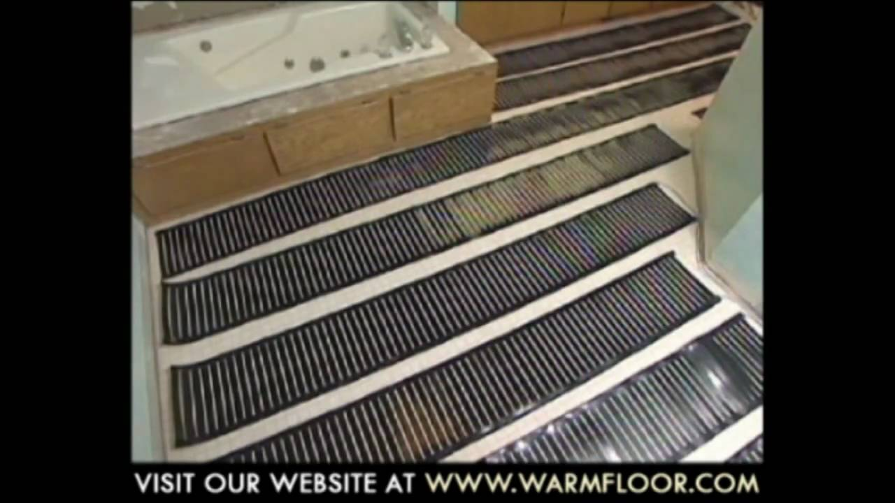 Step Warmfloor Installation Video Youtube
