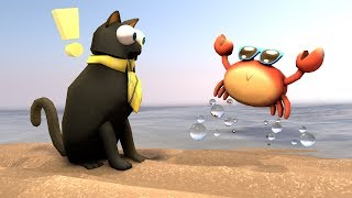 Roblox Animation - SIR MEOWS A LOT MEETS PINCHY THE CRAB!