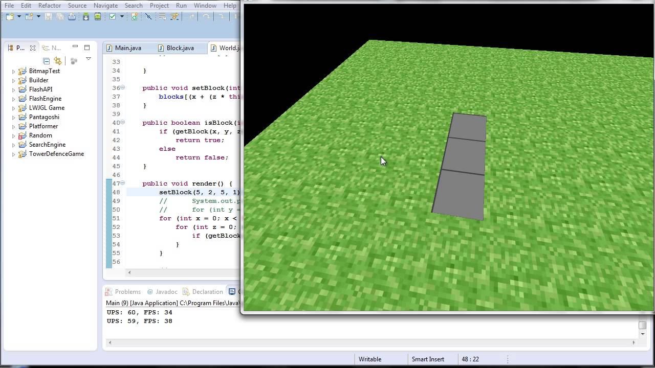 Java ep15 - A OpenGL 3D Game Engine!! - YouTube