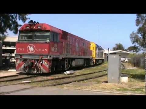 the ghan departing adelaide 23 9 2012 youtube. Black Bedroom Furniture Sets. Home Design Ideas