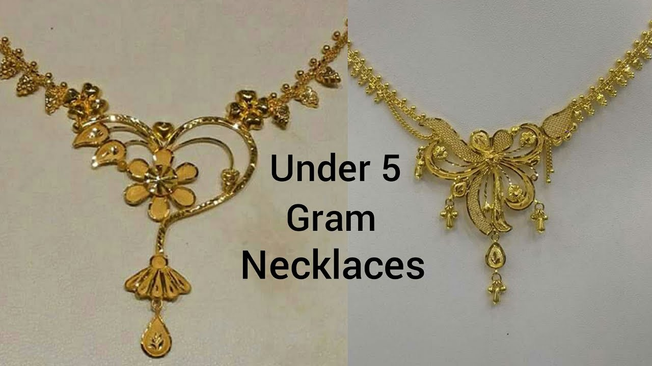Cheap and Affordable Gold Necklaces Designs Under 5 Gram YouTube