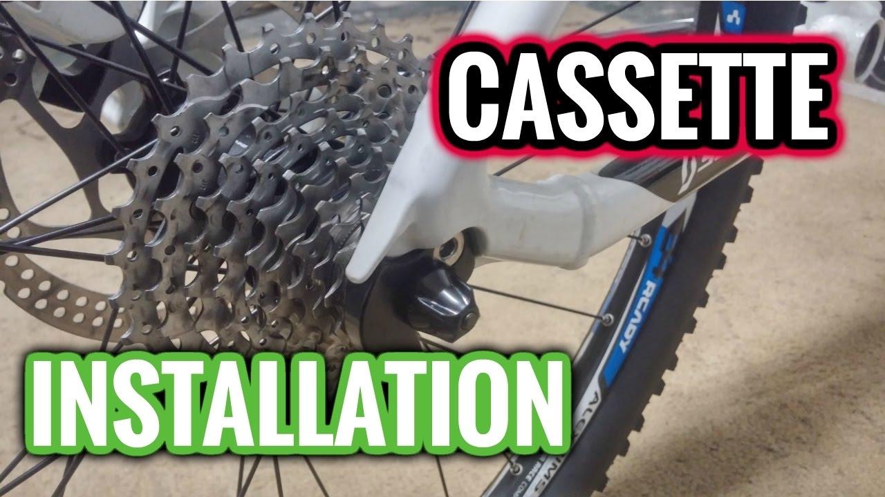 How To Install Cassette On Rear Wheel Cassette On A Bike