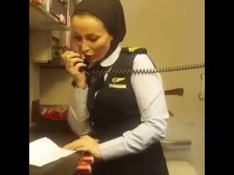 """Purser Flight attendant is announcing in Tehran-Mashhad Flight """"Caspian"""""""