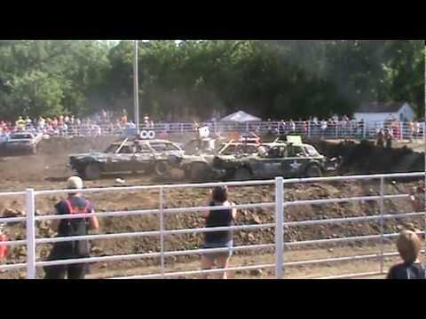 2012 Milan Demolition Derby Main Event #11 Jeryk Eddy Driver Jake Harrison Passenger