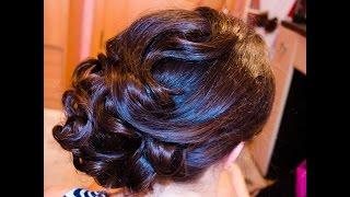 Вечерняя СВАДЕБНАЯ ПРИЧЕСКА на длинные волосы wedding hairstyle(, 2014-06-09T07:10:57.000Z)