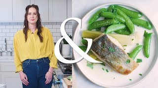 For the Love of Cod! Try this Cod with Lemony Leeks, Snap Peas and Herbs | F&W Cooks