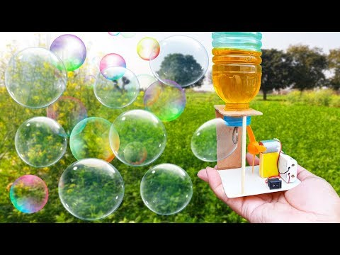 How To Make A Bubble Machine At Home   Amazing Bubble Maker Science Project   Bubble Machine DIY