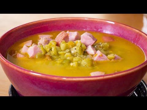 Гороховый суп с сосисками и копченостями. Просто и понятно.