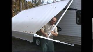 2. How to close a RV Awning