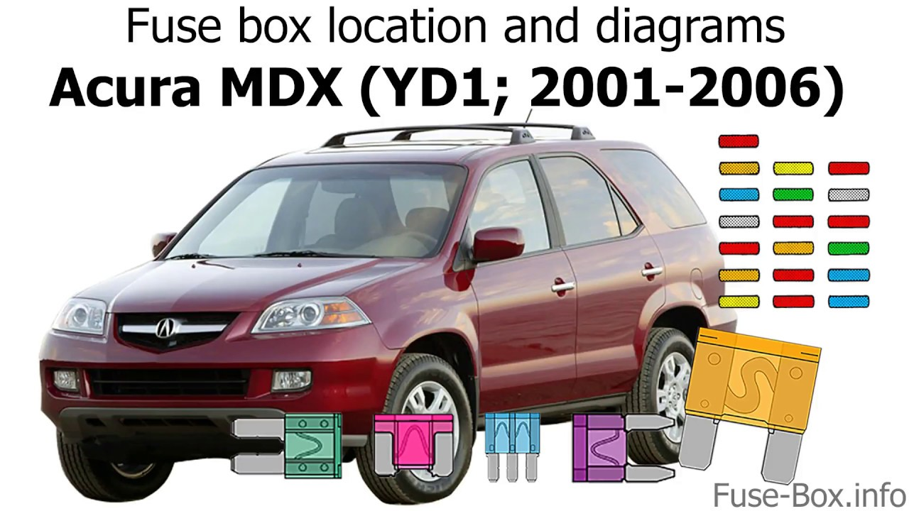 Fuse box location and diagrams: Acura MDX (YD1; 2001-2006) - YouTube 2005 Acura Mdx Fuse Box YouTube