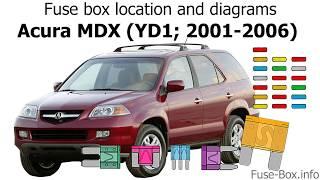 [DIAGRAM_3ER]  Fuse box location and diagrams: Acura MDX (YD1; 2001-2006) - YouTube | 2004 Acura Mdx Fuse Diagram |  | YouTube