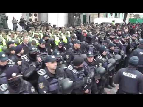 4000 ментов против 3000 борцов за права- Саакашвили митинг у ВРУ