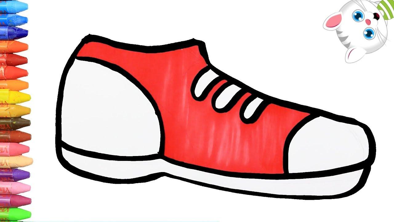 Como Dibujar Y Colorear Calzado Deportivo Dibujos Para Ninos