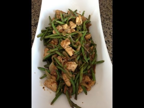 Chicken and Green Beans Stir Fry in Gujrait!