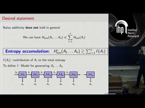 Entropy accumulation - O. Fawzi - Workshop 2 - CEB T3 2017