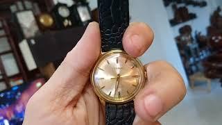 7/1/2019. Bán 10 đồng hồ Thụy sỹ automatic (nhật bãi) dây da bọc, lacke vàng. Toàn 0947350055