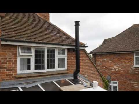 fitting a woodburner into a conservatory in two minutes