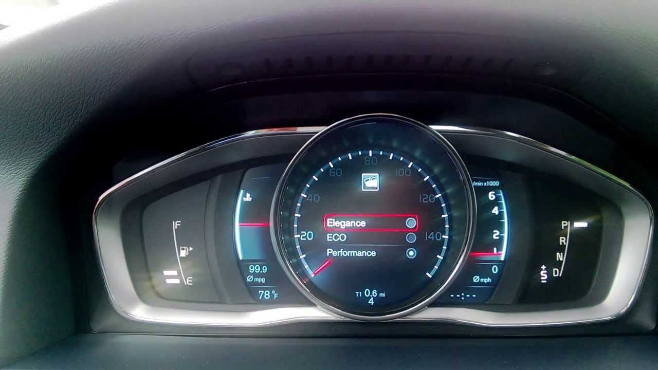 2014 Volvo S60 New Instrument Panel Youtube