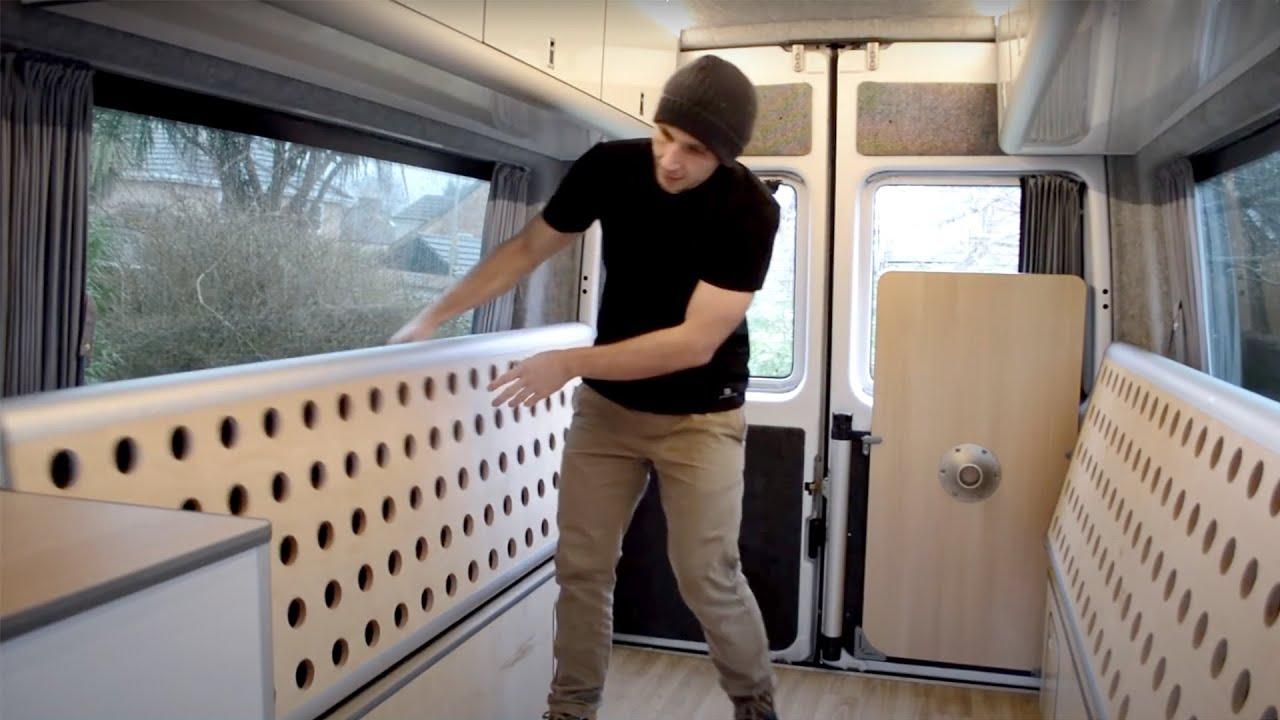 EVO MERCEDES SPRINTER POD V1 Top loading fridge DIY flat pack
