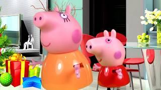 Свинка Пеппа Все серии подряд Новогодний Мультик из игрушек - Выпуск №7 Peppa Pig Свинка Пеппа