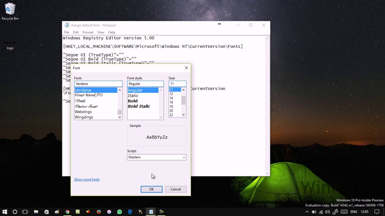 How to Change Default System font in Windows 10 YouTube
