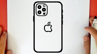 HOW TO DRAW AṖPLE IPHONE
