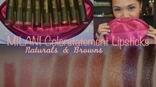 REVIEW: MILANI Color Statement Lipstick Collection (Naturals & Browns) Thumbnail