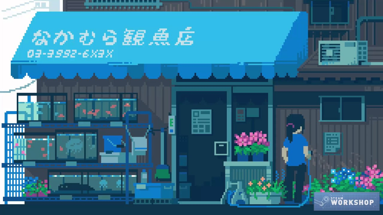 wallpaper engine 8 bit anime collection youtube