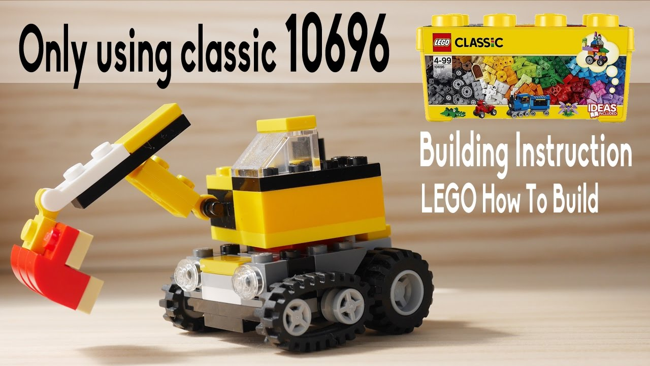 Building Instruction Lego Digger Using Classic 10696 Youtube