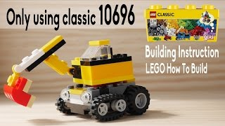 Building instruction LEGO digger using classic 10696