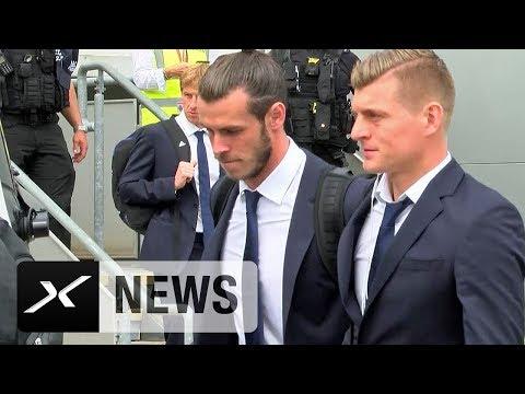 Toni Kroos und Sami Khedira in Cardiff gelandet | Juventus Turin - Real Madrid | Champions League