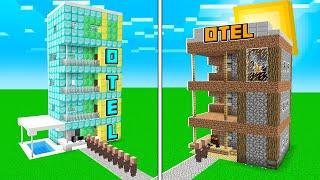 ZENGİN OTEL VS FAKİR OTEL 😱 - Minecraft