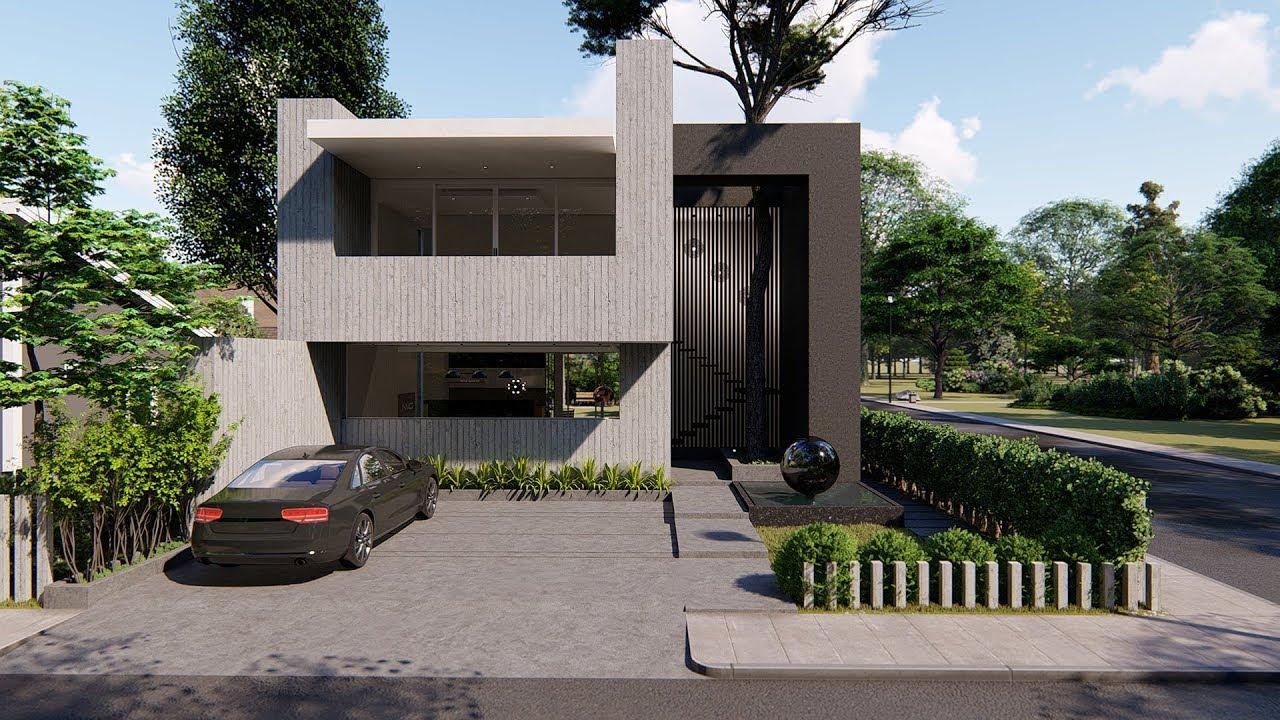 Lumion 8 pro render modern house4
