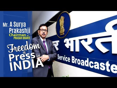 Exclusive Interview with Mr.A Surya Prakashji (Chairman of Prasar Bharti)| Freedom of Press in India