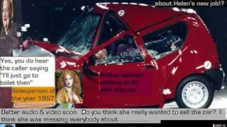 One Lady Owner prank phone call - sell me your car? Subtitles for the hard of Pre Fone Jacker funny
