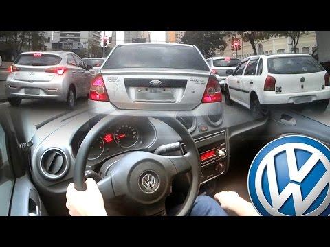 Volkswagen Gol G6  - Câmera interna e externa! - Indo trabalhar! - Trânsito de Curitiba