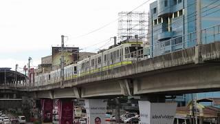 マニラLRT-1号線1000形 ルーズベルト駅発車 Manila LRT Line 1 Class 1000