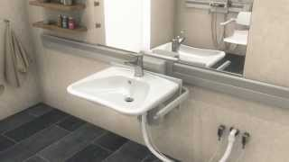 Pressalit Care Plus - Height Adjustable Basin Overview - English