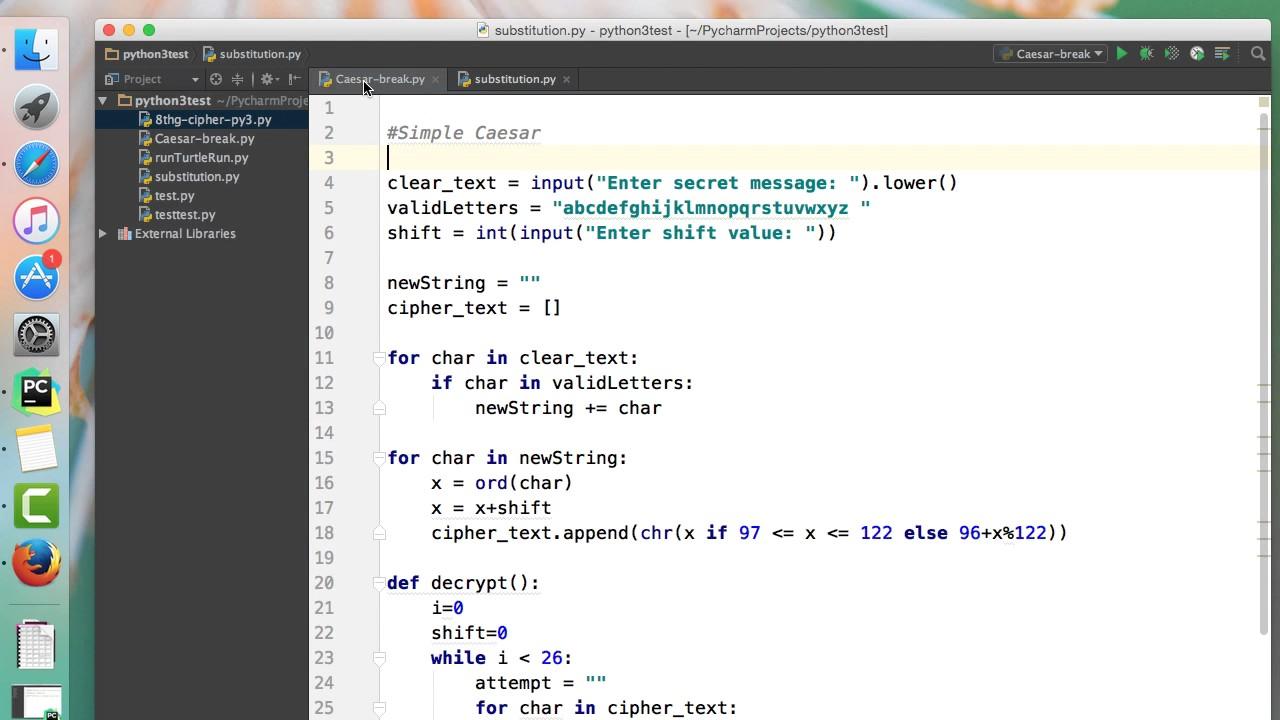 Python Create A Keyword Cipher Youtube