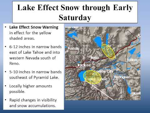 NWS Reno - Nov. 9, 2012 - Lake Effect Snow And Cold Weekend