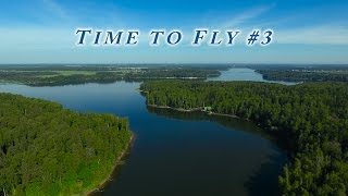 Summer day on Istra lake. Nature from drone. Aerial Phantom 4 footage. Истринское водохранилище