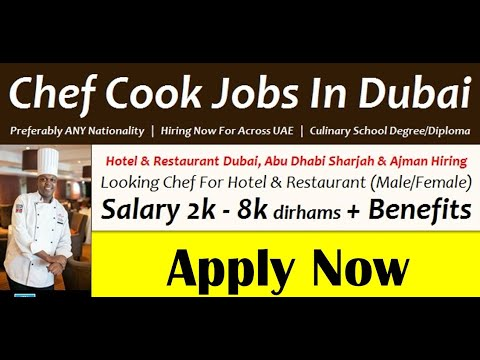 Chef Jobs In Dubai | Apply Now