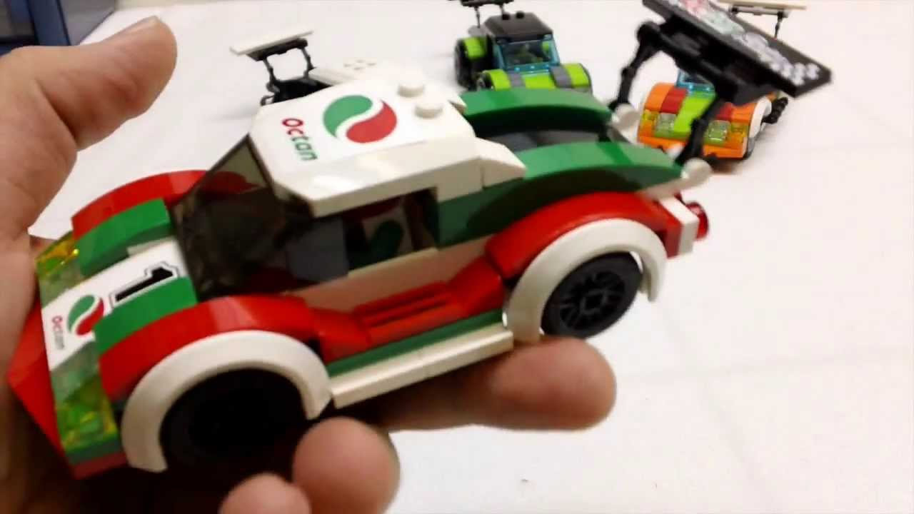 Lego City Race Car And Custom Cars Youtube