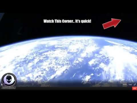 ALIEN CIGAR SHIP Caught Warp Speeding Past Space Station! Must Share 8/13/2015