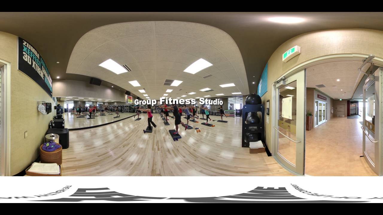 Life Time 360° Club Tour - Group Fitness Studio - YouTube