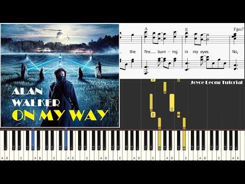 alan-walker,-sabrina-carpenter-&-farruko---on-my-way-(piano-cover-&-sheets)