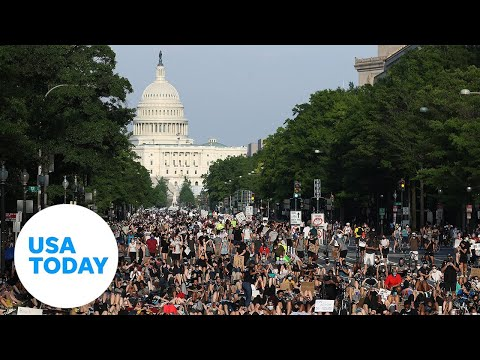 Large demonstrations across country anchor weekend of protests   USA TODAY