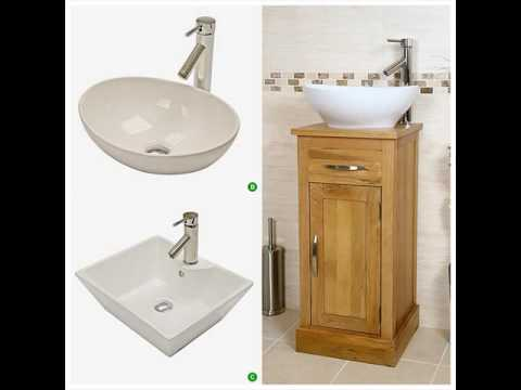 Cloakroom Vanity Unit with Basin and Tap